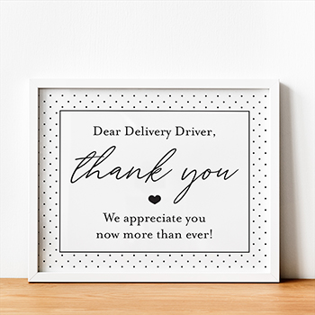 Free Printable Delivery Driver Signs