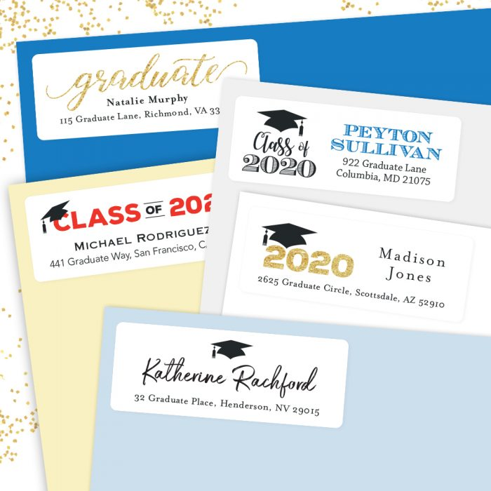 2020 Graduation Address Labels