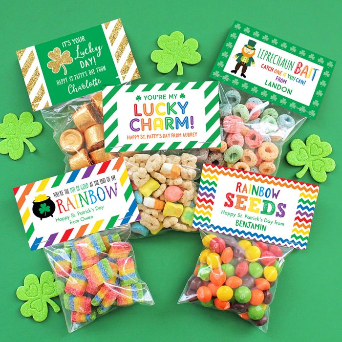 St. Patrick's Day label & bags sets from Chickabug!