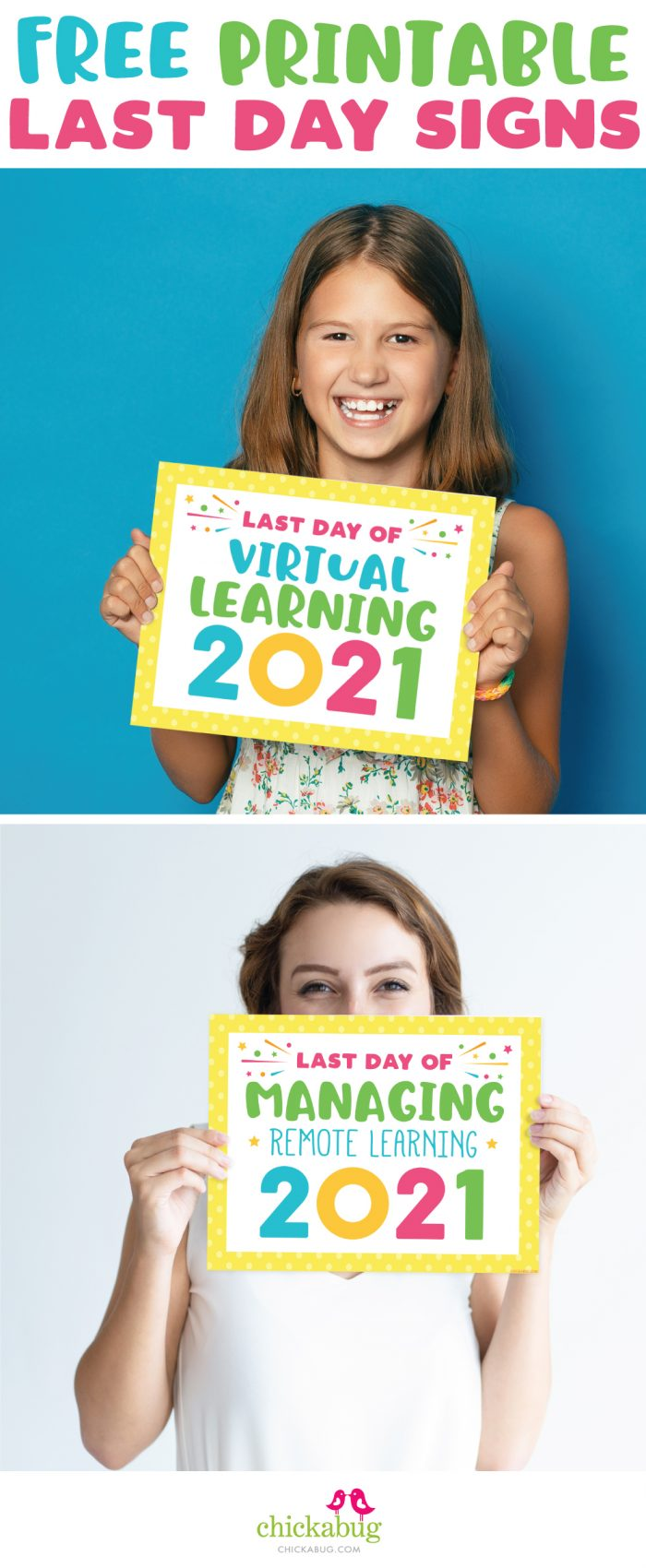 Last Day of Distance Learning Signs 2021