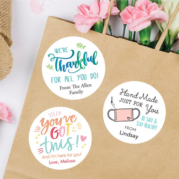 Gratitude & gift labels from Chickabug