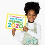 Free Printable First Day of Distance Learning Signs 2020
