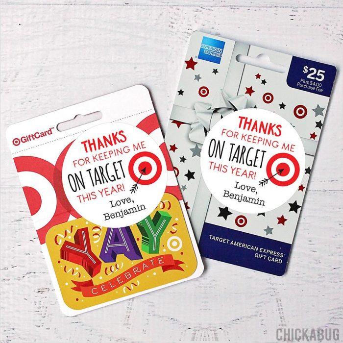 Target Teacher Appreciation Stickers