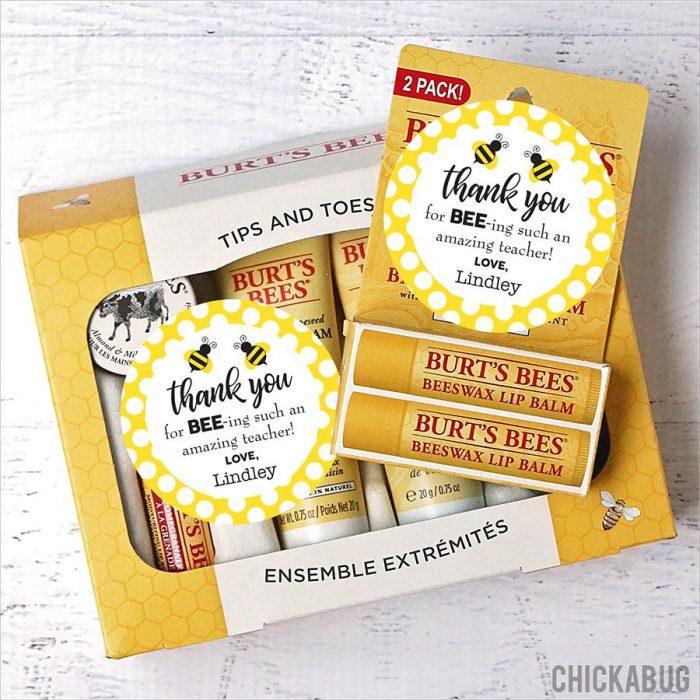 Bumblebee Teacher Appreciation Stickers