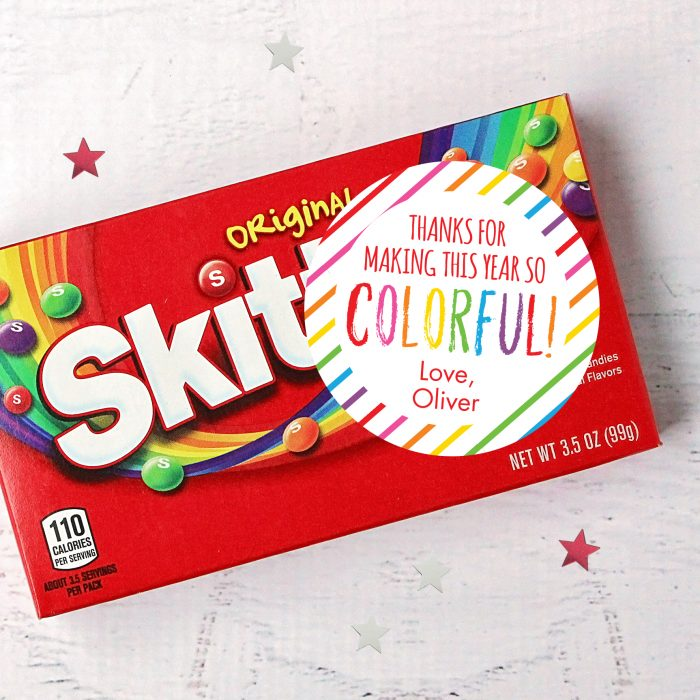 Colorful Teacher Appreciation Stickers