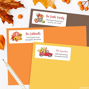 Fall address labels from Chickabug