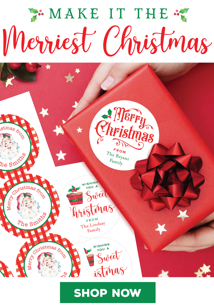 Chickabug - Personalized Christmas Labels